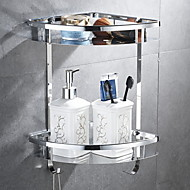 Bathroom Shelf Multilayer Contemporary Stainless steel 1pc Wall Mounted