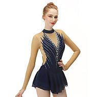 Figure Skating Dress สำหรับผู้หญิง เด็กผู้หญิง สเก็ตน้ำแข็ง ชุดเดรสต่างๆ สีดำ สแปนเด็กซ์ เส้นใยสังเคราะห์ยืดได้ ความยืดหยุ่นสูง มืออาชีพ Competition Skating Wear ทำด้วยมือ แฟชั่น เสื้อไม่มีแขน