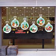 baratos Películas e Adesivos de Janela-Filme de Janelas e Adesivos Decoração Moderna / Natal Flor / Personagem PVC Adesivo de Janela