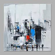 billiga Landskapsmålningar-Hang målad oljemålning HANDMÅLAD - Abstrakt / Landskap Klassisk / Moderna Utan innerram