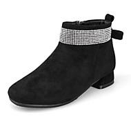 baratos Sapatos de Menina-Para Meninas Sapatos Sintéticos Inverno Curta / Ankle Botas Pedrarias / Ziper para Infantil / Adolescente Preto / Marron / Vermelho / Botas Curtas / Ankle