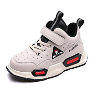 baratos Sapatos de Menino-Para Meninos / Para Meninas Sapatos Microfibra Inverno Conforto Tênis Velcro para Infantil Preto / Bege / Estampa Colorida