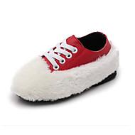 tanie Obuwie dziewczęce-Dla chłopców / Dla dziewczynek Obuwie Skóra bydlęca Zima Wygoda Adidasy Sznurowane na Dzieci / Brzdąc Biały / Czarny / Czerwony