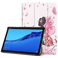 billiga Mobil cases & Skärmskydd-fodral Till Huawei MediaPad M5 10 / Huawei Mediapad M5 Lite 10 med stativ / Lucka / Mönster Fodral Sexig kvinna Hårt PU läder för Huawei Mediapad M5 Lite 10 / MediaPad M5 10 (Pro) / MediaPad M5 10