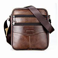 cheap Shoes & Bags-Men's Bags Cowhide Crossbody Bag Zipper Black / Coffee