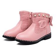 baratos Sapatos de Menina-Para Meninas Sapatos Couro Sintético Inverno Botas de Neve Botas Tachas / Ziper para Infantil Rosa claro / Vermelho Escuro