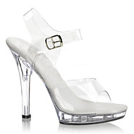 cheap Club Shoes-Women's Shoes PVC(Polyvinyl chloride) Spring / Summer Light Up Shoes / Club Shoes Heels Stiletto Heel / Translucent Heel / Crystal Heel