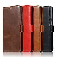 billiga Mobil cases & Skärmskydd-fodral Till Samsung Galaxy Note 9 / Note 8 Plånbok / Korthållare / med stativ Fodral Enfärgad Hårt Äkta Läder för Note 9 / Note 8 / Note 5