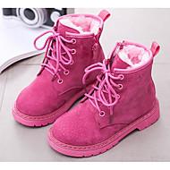baratos Sapatos de Menina-Para Meninas Sapatos Couro Envernizado Outono & inverno Botas da Moda Botas Cadarço para Infantil Preto / Rosa claro / Vinho