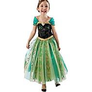 Mekot Juhla-asu Flapper mekko Joulu mekko Tyttöjen Lasten Prinsessa Lolita Halloween Joulu Halloween Lasten päivä Festivaali / loma Polyesteri asuja Vihreä Patchwork