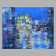 billiga Abstrakta målningar-Hang målad oljemålning HANDMÅLAD - Abstrakt Moderna Utan innerram