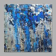 billiga Abstrakta målningar-Hang målad oljemålning HANDMÅLAD - Abstrakt Klassisk / Moderna Duk