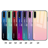 Etui Käyttötarkoitus Huawei P20 Pro / P20 lite Peili / Kuvio Takakuori Color Gradient Kova Karkaistu lasi varten Huawei P20 / Huawei P20 Pro / Huawei P20 lite