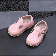 billige Sko til blomsterpiger-Pige Sko Mikrofiber Forår sommer Sko til blomsterpiger Oxfords for Baby Hvid / Sort / Lys pink