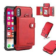 billiga Mobil cases & Skärmskydd-fodral Till Apple iPhone X / iPhone XS Max Plånbok / Korthållare / Stötsäker Skal Enfärgad Mjukt TPU för iPhone XS / iPhone XR / iPhone XS Max