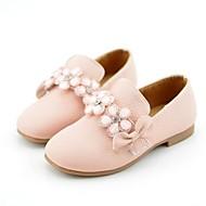 baratos Sapatos de Menina-Para Meninas Sapatos Sintéticos Primavera & Outono Sapatos para Daminhas de Honra Rasos Flor para Infantil / Adolescente Bege / Rosa claro
