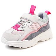 baratos Sapatos de Menino-Para Meninos / Para Meninas Sapatos Couro Primavera & Outono Conforto Tênis Corrida Velcro para Infantil / Bébé Roxo / Vermelho / Rosa claro / Estampa Colorida
