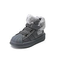 baratos Sapatos de Menino-Para Meninos Sapatos Couro Ecológico Inverno Botas da Moda Botas Velcro para Infantil / Adolescente Branco / Preto / Cinzento / Botas Curtas / Ankle