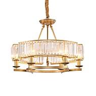 tanie Oświetlenie dekoracyjne-JLYLITE 6 świateł Okrągły Żyrandol Światło rozproszone Galwanizowany Metal Nowy design 110-120V / 220-240V