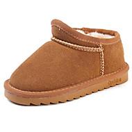 baratos Sapatos de Menina-Para Meninos / Para Meninas Sapatos Pele Inverno Conforto / Botas de Neve Botas para Infantil / Bébé Preto / Marron / Camel / Botas Curtas / Ankle