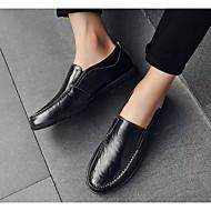 tanie Obuwie męskie-Męskie Komfortowe buty Mikrowłókno Wiosna i jesień Mokasyny i buty wsuwane Czarny / Jasnobrązowy / Ciemnobrązowy