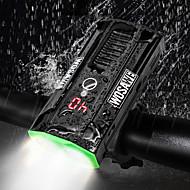 billige Sykkellykter og reflekser-sykkel glødelamper / Frontlys til sykkel LED Sykkellykter Sykling Vanntett, Bærbar, LED Lithium-batteri 850 lm Oppladbar Hvit Camping / Vandring / Grotte Udforskning / Sykling / Jakt - WOSAWE
