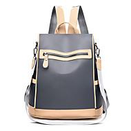 Women's Bags Oxford Cloth Backpack Zipper Color Block Black / Gray