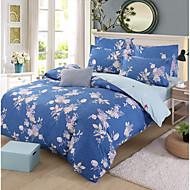billige Blomstrete dynetrekk-Sengesett Blomstret Polyester Trykket 4 delerBedding Sets