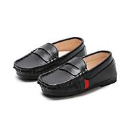 baratos Sapatos de Menino-Para Meninos Sapatos Couro Ecológico Primavera & Outono Conforto / Primeiros Passos Mocassins e Slip-Ons para Infantil / Bébé Branco / Preto / Azul