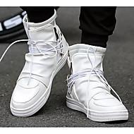 Men's Comfort Shoes Microfiber Spring &  Fall Sneakers White / Black