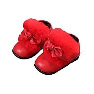 baratos Sapatos de Menina-Para Meninas Sapatos Couro Sintético Inverno Conforto / Primeiros Passos Botas para Bébé Marron / Vermelho / Rosa claro / Botas Curtas / Ankle