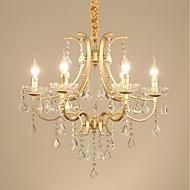 billige Takbelysning og vifter-JLYLITE 6-Light Candle-stil Lysekroner Opplys galvanisert Metall Mini Stil 110-120V / 220-240V