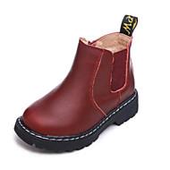 baratos Sapatos de Menino-Para Meninos / Para Meninas Sapatos Couro Outono & inverno Coturnos Botas Ziper para Bébé Marron / Vermelho / Vinho / Botas Curtas / Ankle
