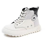 baratos Sapatos de Menino-Para Meninos / Para Meninas Sapatos Couro Inverno Conforto Tênis Ziper para Infantil Preto / Bege