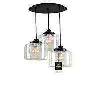 billige Takbelysning og vifter-Lightinthebox 3-Light Cluster Anheng Lys Nedlys galvanisert Metall Glass Mini Stil 110-120V / 220-240V Pære Inkludert / E26 / E27