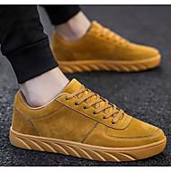 tanie Obuwie męskie-Męskie Komfortowe buty Mikrowłókno Jesień i zima Adidasy Czarny / Szary / Żółty
