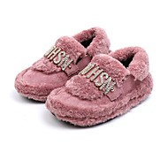 baratos Sapatos de Menina-Para Meninas Sapatos Pêlo Sintético / Sintéticos Outono / Outono & inverno Conforto Rasos para Bébé Preto / Rosa claro / Khaki
