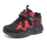 baratos Sapatos de Menino-Para Meninos Sapatos Couro Inverno Conforto Tênis Velcro para Infantil Preto / Vermelho / Preto / Vermelho / Estampa Colorida