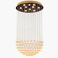billige Taklamper-10-Light Krystall Anheng Lys Nedlys galvanisert Metall Krystall, LED 110-120V / 220-240V Varm Hvit Pære Inkludert / GU10