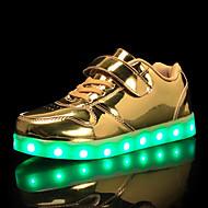 tanie Obuwie chłopięce-Dla chłopców Obuwie PU Wiosna i lato Świecące buty Adidasy LED na Dzieci / Dla nastolatków Złoty / Srebrny / Różowy