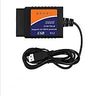 elm327 obd usb bil diagnostisk testing instrument bil diagnostisk kodeleser