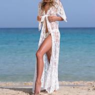 לבן מידה אחת אחיד, בגדי ים כיסוי חוטיני לבן סטרפלס בסיסי בגדי ריקוד נשים / סקסית