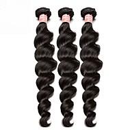 3 paketa Brazilska kosa Valovita kosa Ljudska kosa Netretirana  ljudske kose Ljudske kose plete tkati 10inch-24inch Natural Prirodna boja Isprepliće ljudske kose Odor Free Nježno Rasprodaja