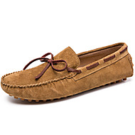 baratos Sapatos Masculinos-Homens Sapatos de couro Camurça Primavera & Outono Casual / Formais Sapatos de Barco Massgem Marron / Verde / Azul Claro