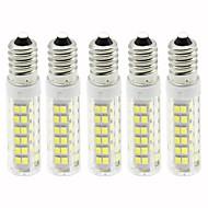 billige Kornpærer med LED-5pcs 4.5 W 450 lm E14 LED-kornpærer T 76 LED perler SMD 2835 Mulighet for demping Varm hvit / Kjølig hvit 110 V