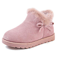 cheap Kids' Boots-Girls' Shoes Cowhide Winter Fashion Boots Boots Bowknot for Kids Black / Pink / Camel / Booties / Ankle Boots