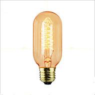 billige Glødelampe-1pc 40W E27 E26/E27 T45 2300 K Glødende Vintage Edison lyspære AC 220V AC 220-240V V