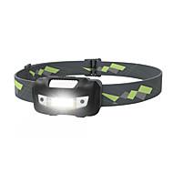 billige Lommelykter & campinglykter-Sensor Hodelykter sikkerhet lys LED LED 1 emittere 125 lm 4.0 lys tilstand med batterier Bærbar Camping / Vandring / Grotte Udforskning, Dagligdags Brug, Sykling Svart / Gul