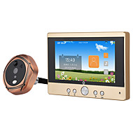 """billige Dørtelefonssystem med video-MOUNTAINONE SY501 720P WiFi Peephole Door Viewer Med ledning Fotografert Opptak 5"""" Håndfri Telefon 480*854Pixel En Til En Video Dørtelefon"""