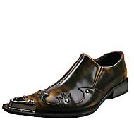 abordables Oxfords pour Homme-Homme Chaussures de nouveauté Cuir Printemps / Eté Rétro / Confort Oxfords Marron / Mariage / Soirée & Evénement